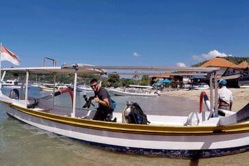 diving in Padang bay